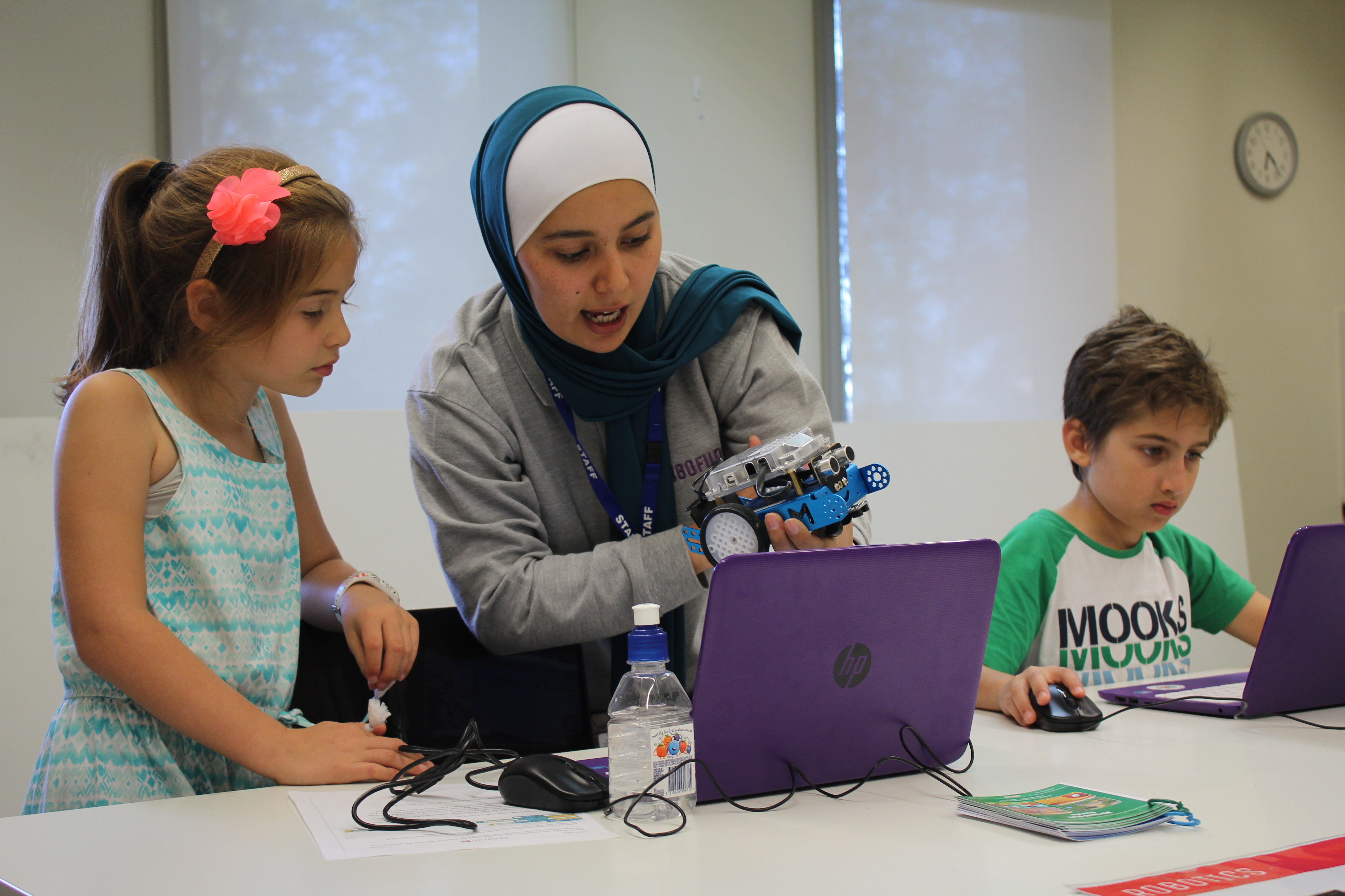 Lina's Robofun academy gives kids hands-on experience with STEM subjects.